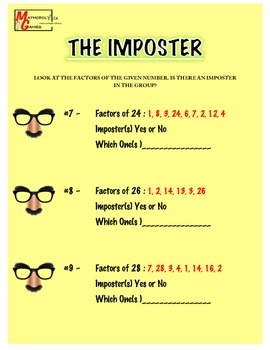 Imposter - Learning the Factors of Numbers