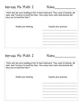 Impress Me Math #1-4