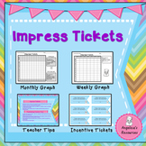 Student Incentives:  Behavior Tracker - Weekly Graphs and Incentive Tickets