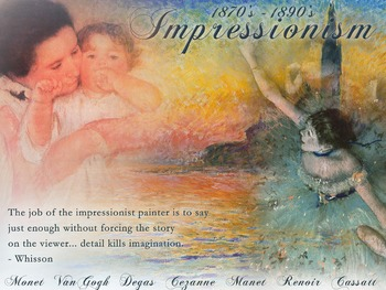 Impressionism Art History Poster
