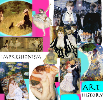 Impressionism Artists Painters ~ Art History ~ FREE POSTER