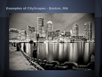 Impressionism Inspired City Scape Skyline Drawings PowerPoint Project