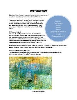 Impressionism Lesson Plan