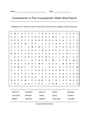 Impressionism & Post Impressionism Artists Word Search wit