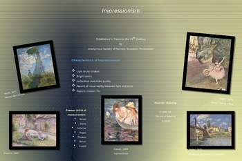 Impressionism Poster