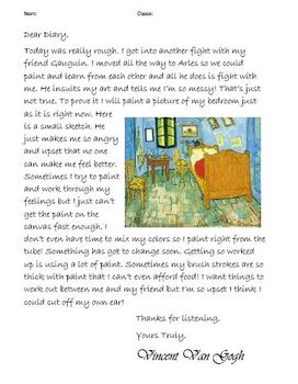 Impressionist Artist Diary Entry