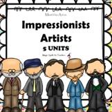 Impressionist Artists - Degas - Matisse - Monet - Renoir - Van Gogh - BUNDLE