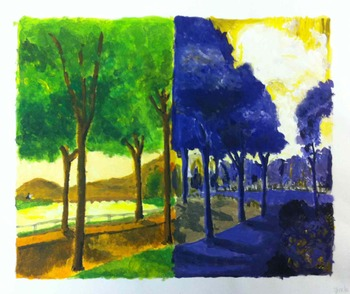 Impressionist Tempera Painting: Color Theory