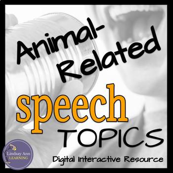 Impromptu Public Speaking Activity for Secondary ELA: Animal Topics