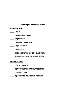 Impromptu Book Presentations