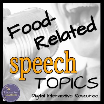 Public Speaking Activity, Food-Related Impromptu Speech Topics