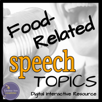 Impromptu Speech Topics for Middle School and High School Food Lovers
