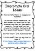 Impromptu Oral ideas
