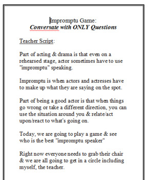 Impromptu Speaking Activity with Assessment