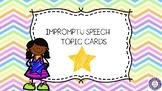 Impromptu Speech Cards