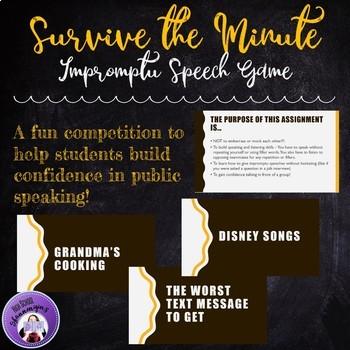 Public Speaking Game -- Impromptu Speeches: Survive the Minute