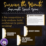 Public Speaking Game -- Impromptu Speeches: Survive the Minute