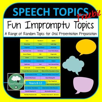 quick speech topics