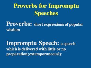 Impromptu Speeches