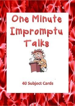 Impromptu Talks