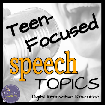 Public Speaking Activity for Teenagers in Middle School or High School