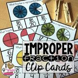 Improper Fraction Clip Cards
