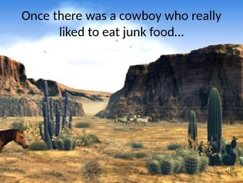 """Improper Fraction """"Fat Cowboy"""" Powerpoint Story"""