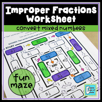 Improper Fraction Maze 1