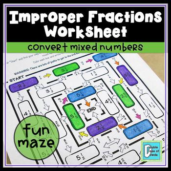 Improper Fraction Maze 1