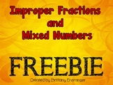 Improper Fraction and Mixed Number FREEBIE