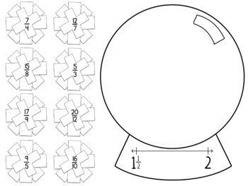 Improper Fraction and Mixed Number Sorting Activity