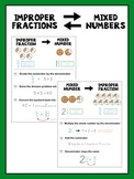 Improper Fraction and Mixed Number Anchor Chart/Reference Sheets