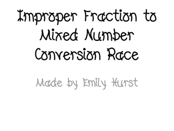 Improper Fraction to Mixed Number Conversion Race
