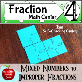 Fractions Improper to Mixed Number Two Differentiated Math