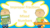 Improper Fraction to Mixed Number Task Cards