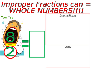 Improper Fraction to Mixed Numbers