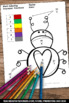 Improper Fractions Color by Number 3rd Grade Math Review
