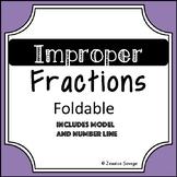 Improper Fractions Foldable, Interactive journal, number l
