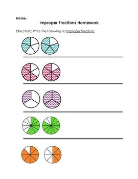 Improper Fractions Homework