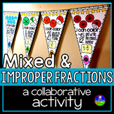 Improper Fractions and Mixed Numbers Pennant