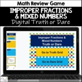 Improper Fractions & Mixed Numbers Truth or Dare Math Game