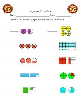 Improper Fractions Printable