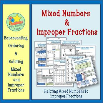 Improper Fractions - Representing, Ordering and Relating Improper Fractions