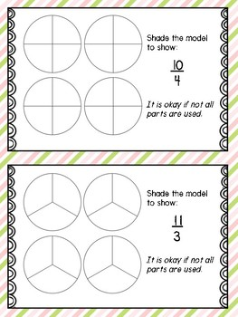 Improper Fractions Small Group Lesson