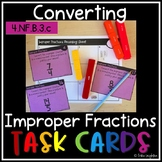Improper Fractions Task Cards