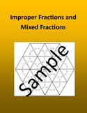 Improper Fractions and Mixed Fractions – Math puzzle