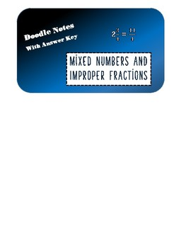 Improper Fractions and Mixed Number Doodle Notes and Practice
