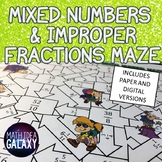 Improper Fractions and Mixed Numbers Digital Resource