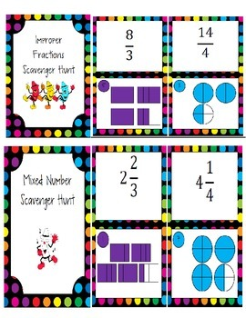 Improper Fractions and Mixed Numbers Bundle