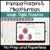 Improper Fractions and Mixed Numbers Digital Activities